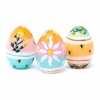 Handmade Unscented Spring Candles, Set of 3 (South Africa)