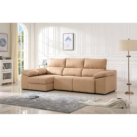 Copper Grove Longkhan 5-piece Sectional Sleeper Sofa with Adjustable Headrest
