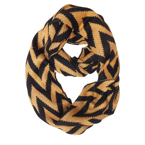 Peach Couture Charming Classic Knit Chevron Infinity Loop Scarves