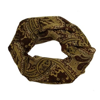 Link to Peach Couture Vintage Brown Paisley Fashion Loop Scarf Scarves Similar Items in Scarves & Wraps
