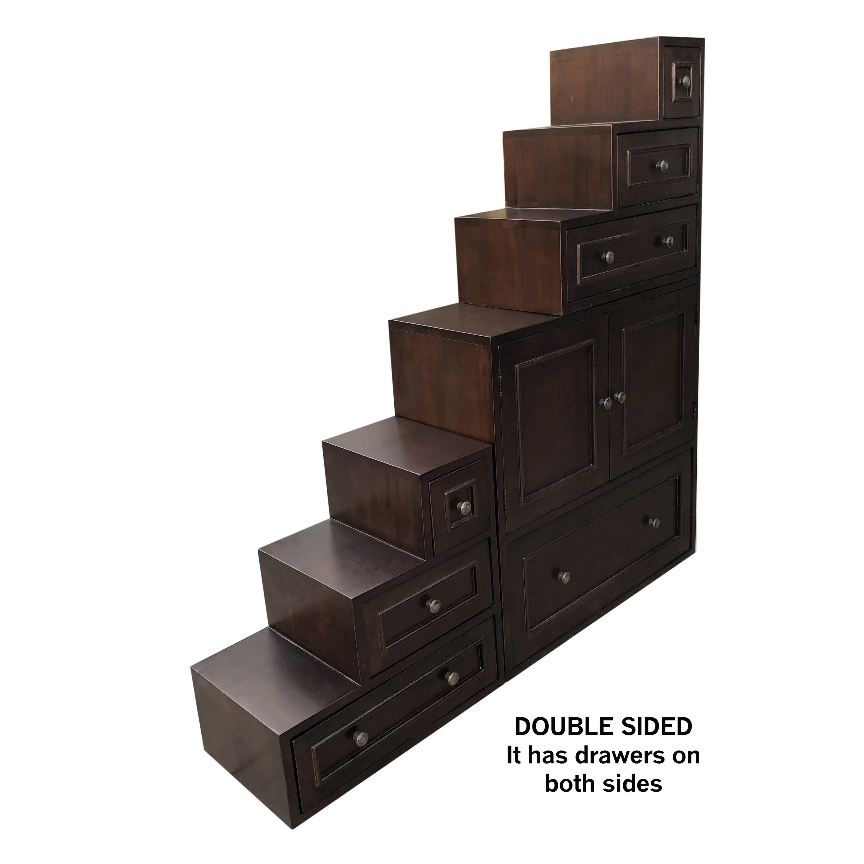 Asian Step Cabinet Double Sided