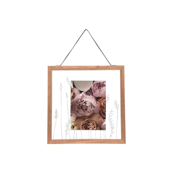 Foreside Home and Garden 5X7 Prairie Floating Photo Frame