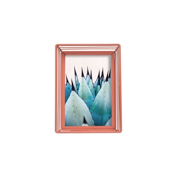 Foreside Home and Garden 4X6 Wire Rim Photo Frame Terracotta