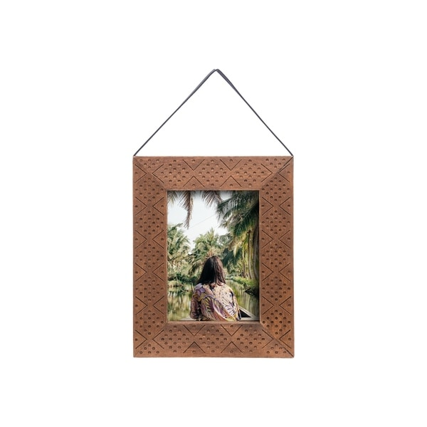 Foreside Home and Garden 5X7 Hanging Etched Photo Frame