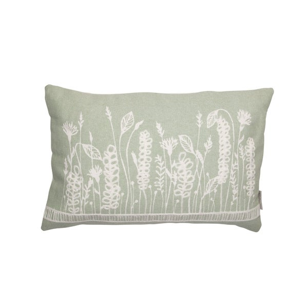 Foreside Home and Garden 14X22 Hand Woven Flora Pillow