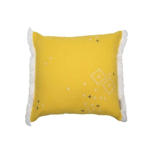Foreside Home and Garden 18X18 Hand Woven Aurelia Pillow