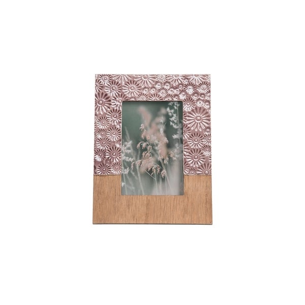 Foreside Home and Garden 4X6 Floral Photo Frame Lilac