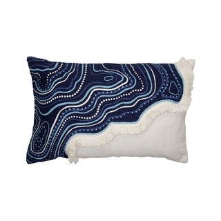 Foreside Home and Garden 14X22 Hand Woven River Pillow