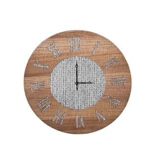 Foreside Home and Garden Dawson Wall Clock