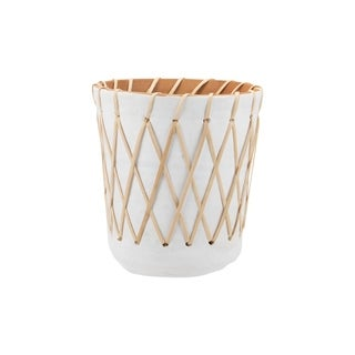Foreside Home and Garden Rattan Woven Planter Large