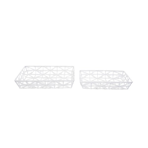 Foreside Home and Garden Boho Trays, Set Of 2