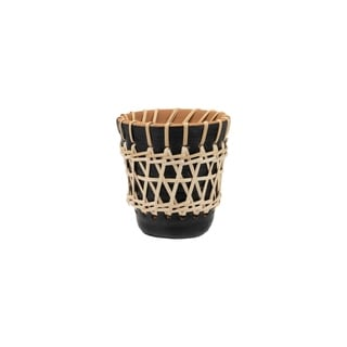Foreside Home and Garden Rattan Woven Planter Small