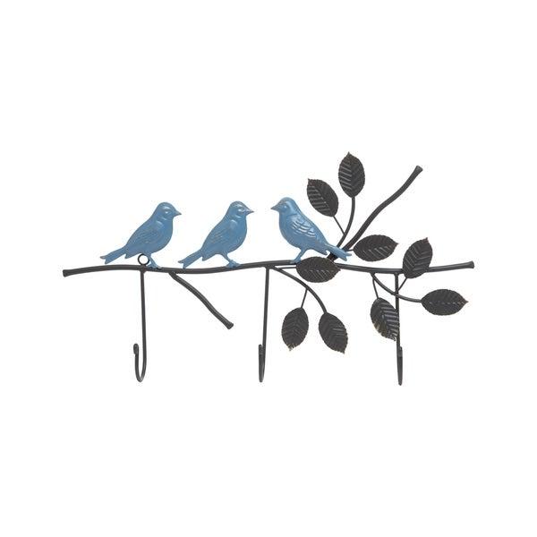 Foreside Home and Garden 3 Hook Bird Branch Wall Hanger