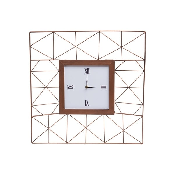 Foreside Home and Garden Geo Wire Wall Clock