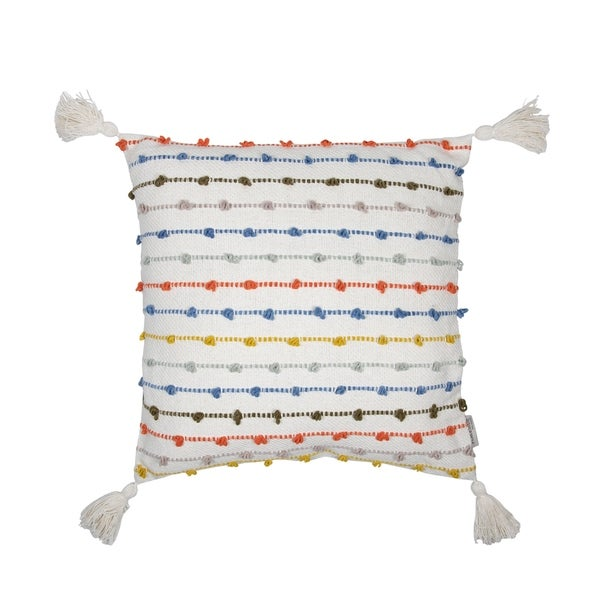 Foreside Home and Garden 20X20 Hand Woven Kira Pillow Multi
