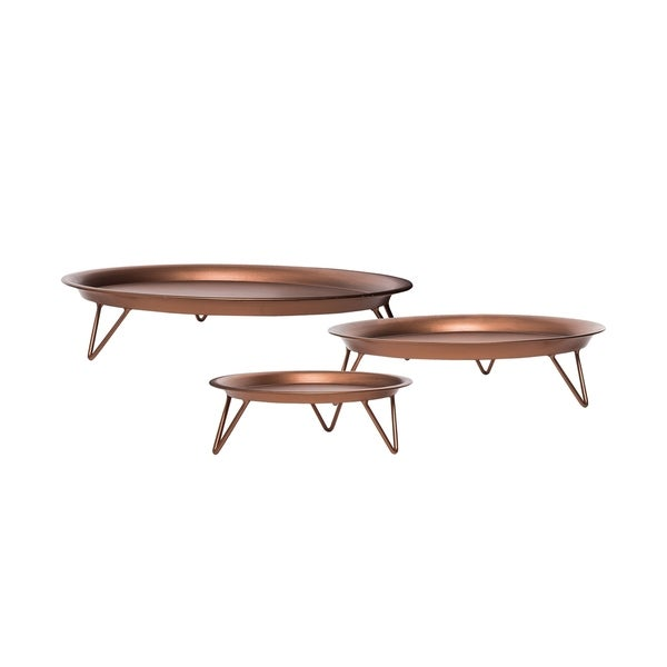 Foreside Home and Garden Copper Hairpin Risers, Set Of 3