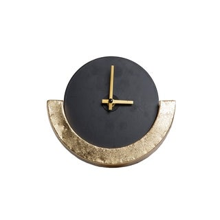 Strick & Bolton Brass-finished Half Moon Countertop Clock