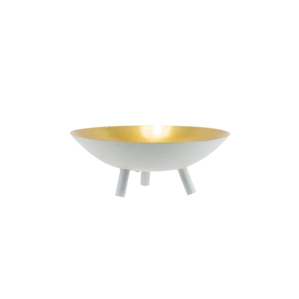 Foreside Home and Garden Modern Brass Tray Small