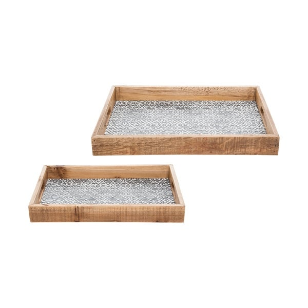 Foreside Home and Garden Dawson Nesting Trays, Set Of 2