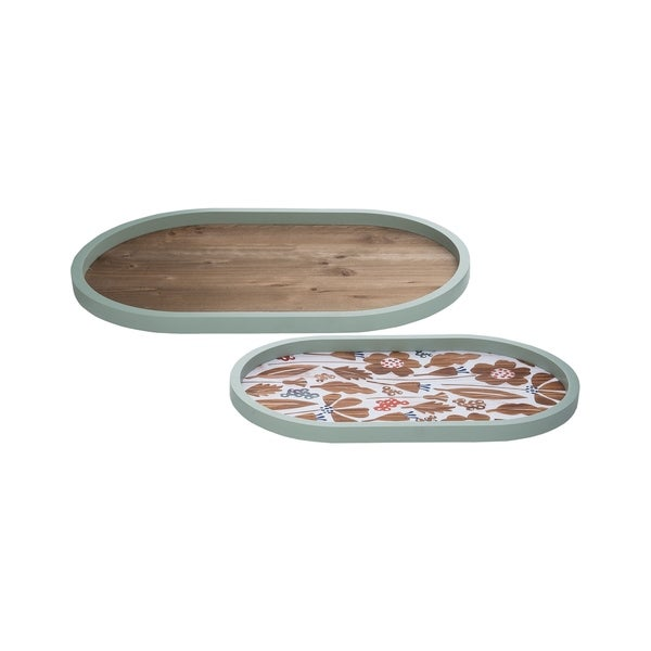 Foreside Home and Garden Calla Nesting Trays, Set Of 2