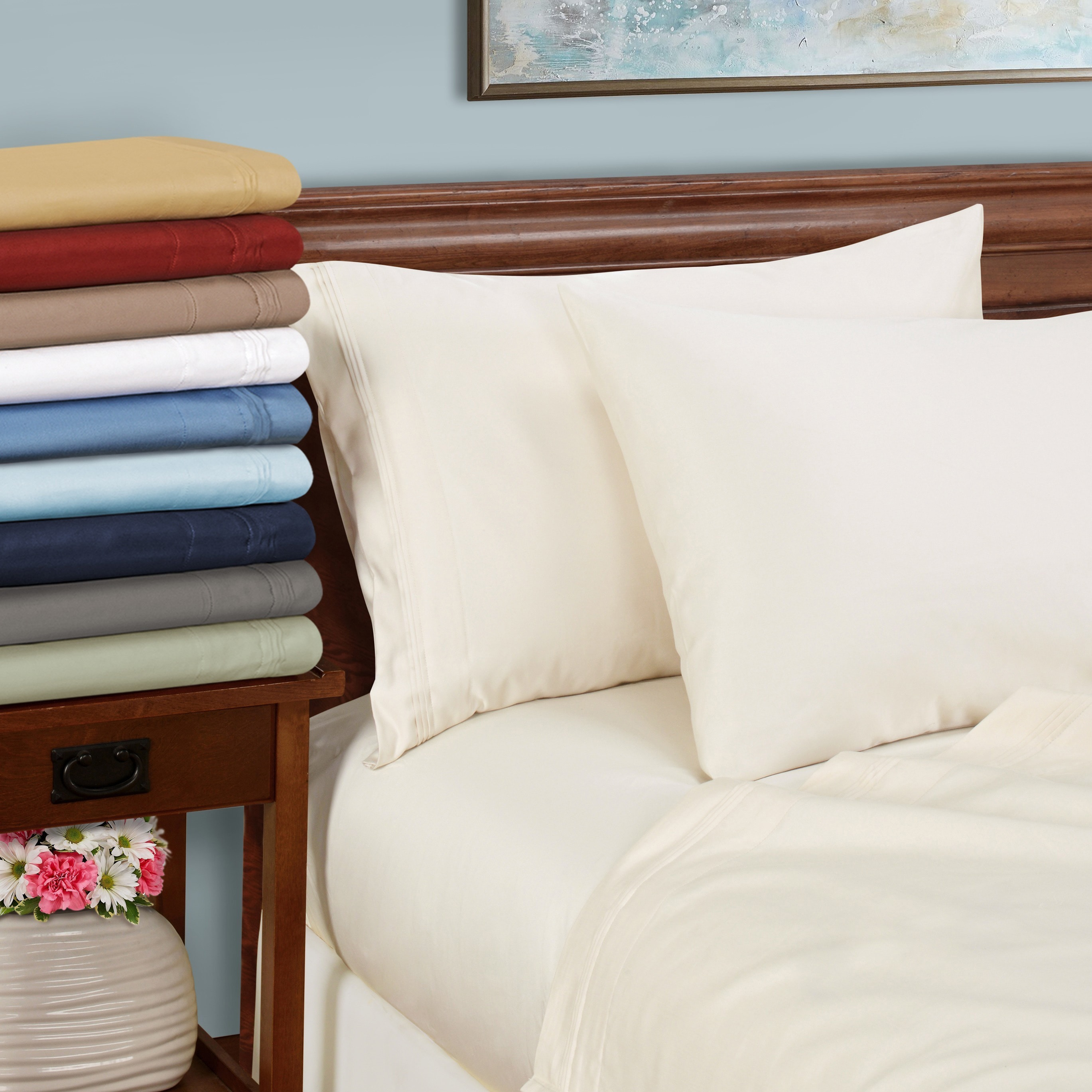 Home Bedding Items All US Size 1000 Thread Count 100/% Egyptian Cotton Sage Solid