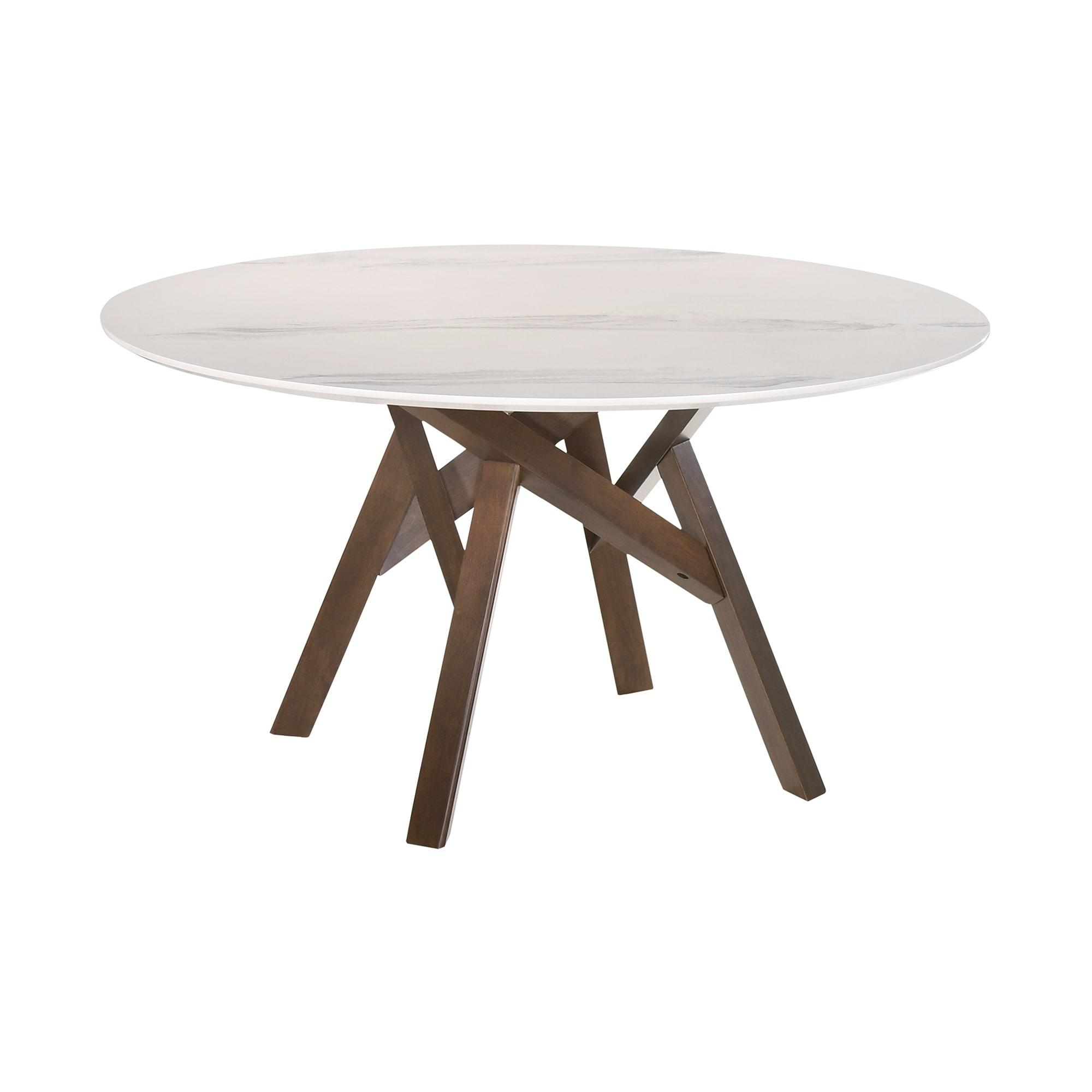 Venus 54 Round Mid Century Modern Pedestal Dining Table On Sale Overstock 30716976