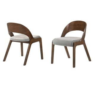 Polly  Mid-Century Modern Dining Accent Chairs - Set of 2
