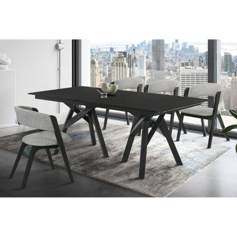 """Cortina 79"""" Mid-Century Modern Double Pedestal Dining Table"""