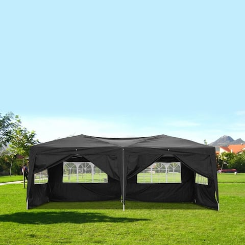 Outdoor Camping 3 x 6m Four Windows Practical Waterproof Folding Tent