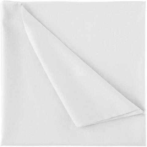 A1HC GOTS Certified 100% Organic Cotton Flat Sheet, 300 Thread Count, Single Ply, Long Staple, Oversized, White