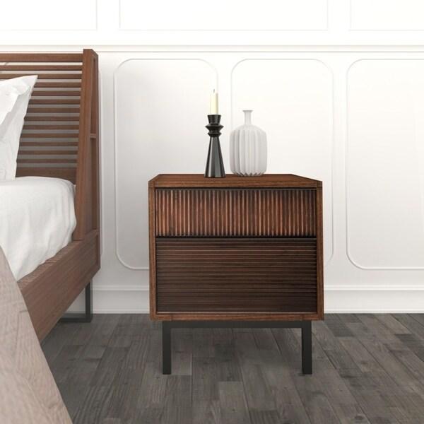 Hopper Studio Avant Brown 2 Drawer Nightstand