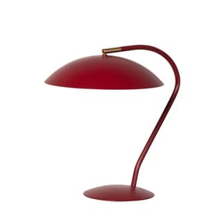 Link to Carson Carrington Ullersatter Mid Century Modern Matte Red Task Table Lamp Similar Items in Table Lamps