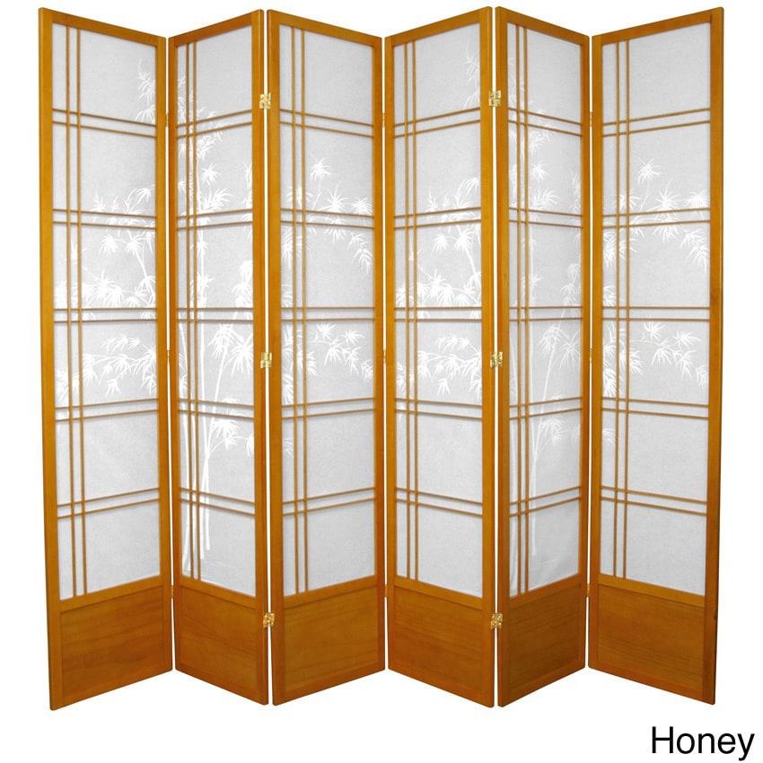 Handmade Bamboo Tree 84-inch Shoji Screen (China) (Honey ...