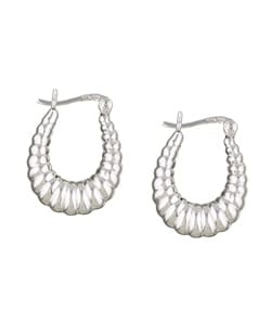 Mondevio Sterling Silver Shrimp Design Hoop Earrings
