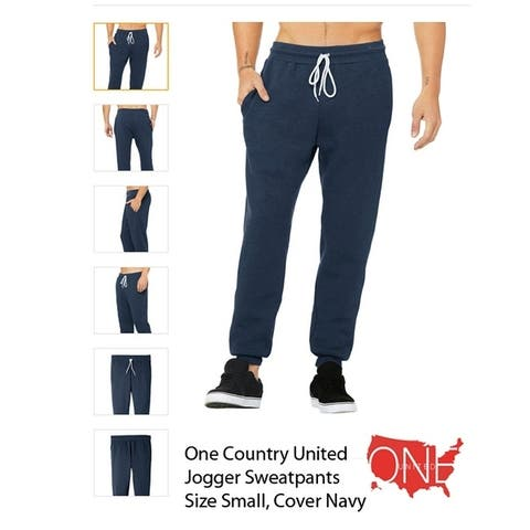 Unisex Jogger Sweatpants Size Small, Color Heather Navy