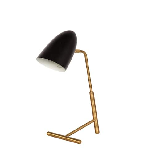Curvilinear Table Lamp - Matte Black