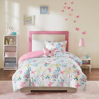 Link to Mi Zone Kids Caroline Pink Printed Butterfly Comforter Set Similar Items in Kids Comforter Sets