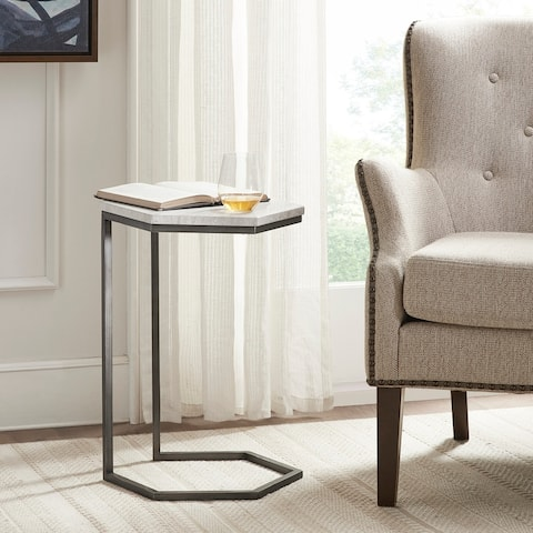 Madison Park Isabella Grey/ Dark Grey Accent Table