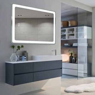 Link to Smart Backlit LED Illuminated Fog-Free Vanity Mirror With Light And Dimmer Similar Items in Mirrors