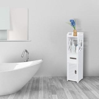 Link to 4-Tier Bathroom Standing Shelf Storage Closet Organizer Free Standing Shelves Rack Cabinet with 2 Doors Similar Items in Bathroom Furniture