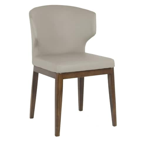 Cabo Mid-century Modern Leatherette Wingback Chair - Contract Grade - Wood Base