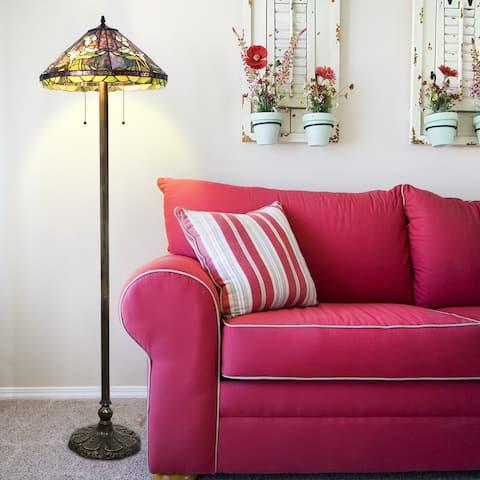 Tiffany-style Calla Lilly Floor Lamp
