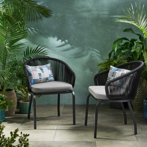 Boynton Outdoor Club Chair (Set of 2) by Christopher Knight Home