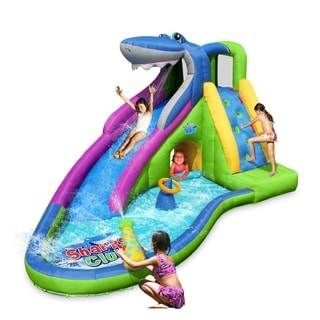 Inflatable Waterslide, Bounce House with Slide for Wet and Dry