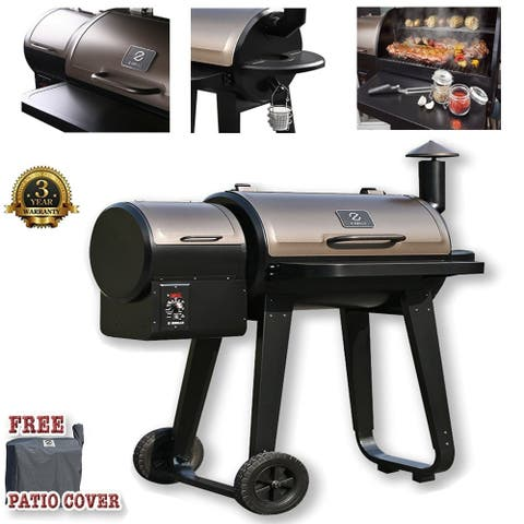 Moda Stylish Z Grill-450A Outdoor BBQ Smokers with Temperature Controls