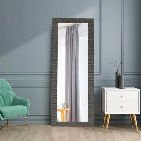 Retro Rectangular Full Length Floor Bathroom Mirror For Hanging Or Leaning - 64.2x21.3