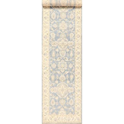 """Oushak Turkish Floral Long Runner Rug Vegetable Dye Oriental Handmade - 3'7"""" x 16'9"""""""