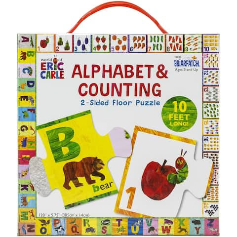 Eric Carle 2-Sided Floor Puzzle-Alphabet And Counting
