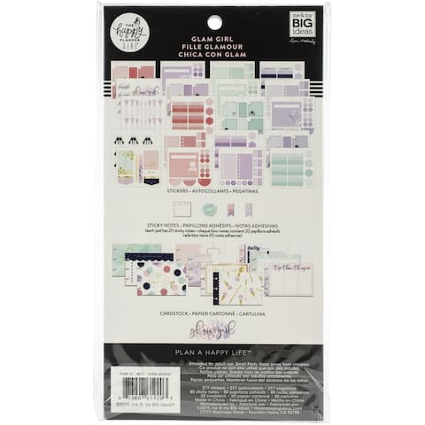 Happy Planner Note Cards/Sticky Note Multi Pack-Glam Girl, 377/Pkg
