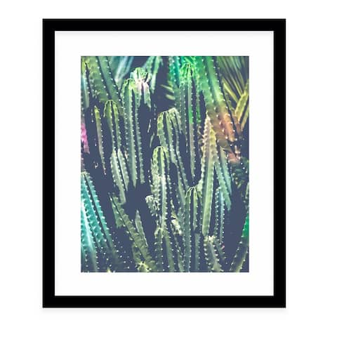 CACTUS JUNGLE Black Framed Giclee Print by Kavka Designs